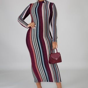 Dresses - Striped Midi Dress